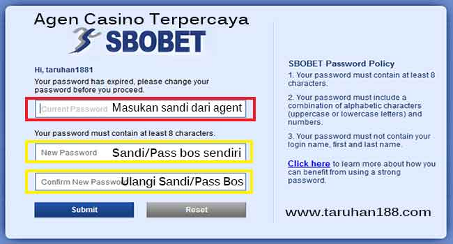 Ubah Password Sbobet - Cara Daftar Sbobet Casino